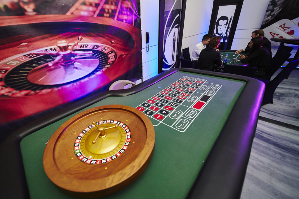 rulet, impreza integracyjna, green table